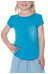 Icebreaker Tech Lite SS Wildflower Kids Cyan